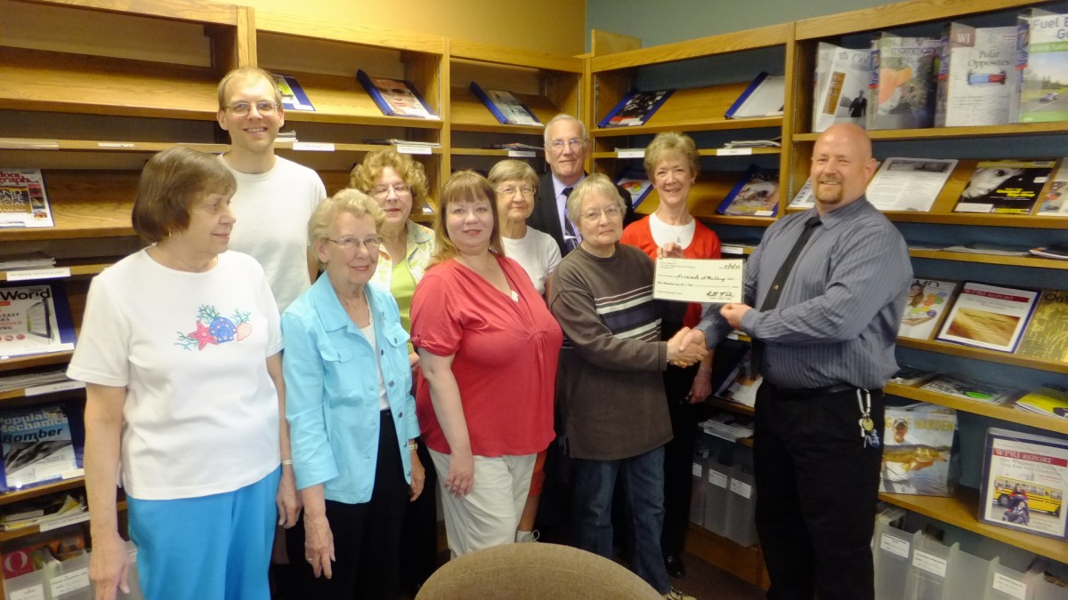 The Friends receive a donation from Robert Theim of Masonic Lodge #??